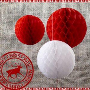 Christmas Honeycomb Balls