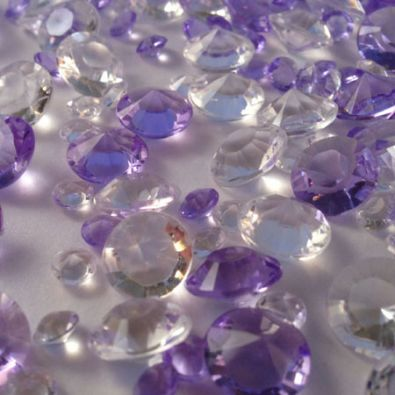 Lilac & Clear Table Crystals