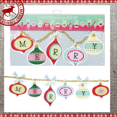 Merry Christmas Bauble Garland