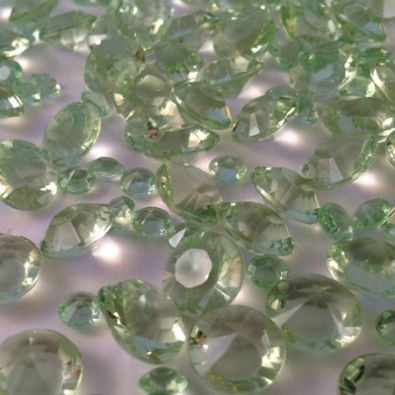 Light Green Table Crystals