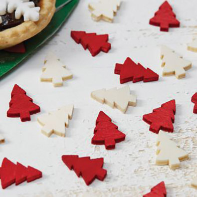 Wooden Christmas Tree Confetti