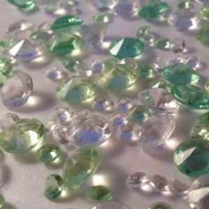 Light Green & Clear Table Crystals