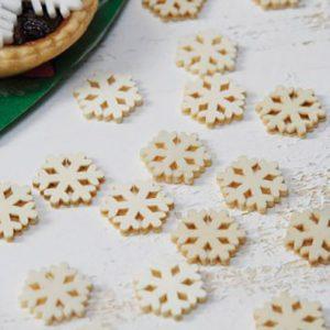 Rustic Wooden Snowflake Confetti