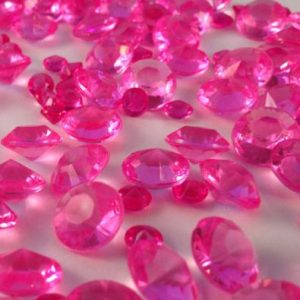 Hot Pink Table Crystals