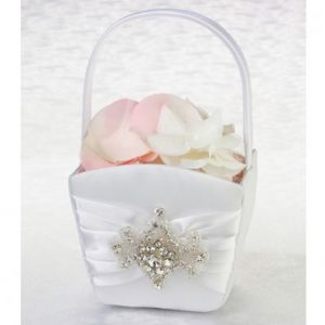 Jewel Motif Flower Basket