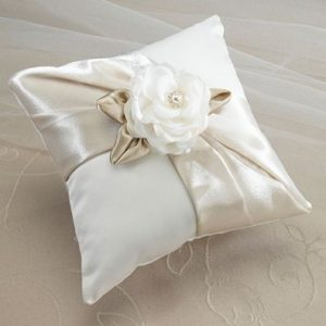 Taupe Rose Ring Cushion