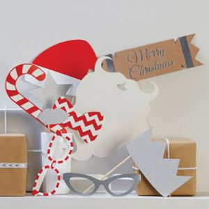 Red & Silver Christmas Photo Booth Pack