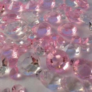 Baby Pink & Clear Table Crystals