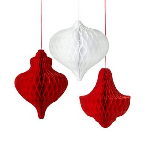 Red & White Christmas Honeycombs