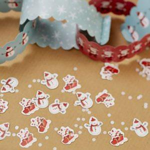 Santa Sleigh & Snowman Confetti