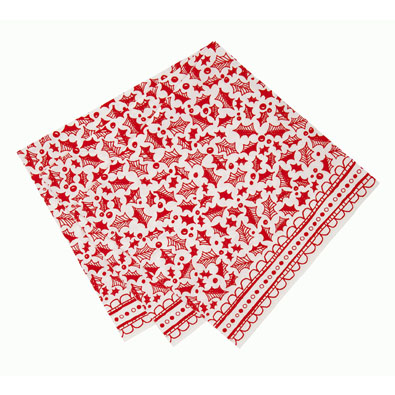 Red & White Christmas Dinner  Napkins