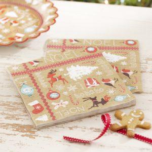 Vintage Christmas Paper Napkins