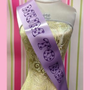 Mum to Be Pretty Flower Baby Shower Sash
