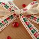 Vintage Merry Christmas Printed Ribbon