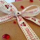 Owl Merry Christmas Printed Ribbon