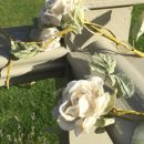 1.5m Cream Wired Rose Garland