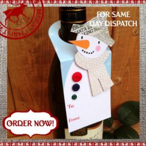 Snowman Christmas Wine Bottle Tag