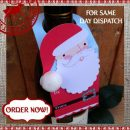 Santa Christmas Wine Bottle Tag