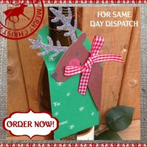 Reindeer Christmas Wine Bottle Tag
