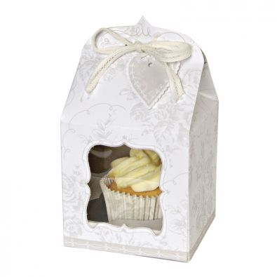 To Have & To Hold Cupcake Box - Pk 4