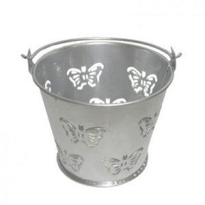 Silver Miniature Butterfly Bucket