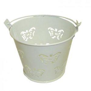 White Miniature Butterfly Bucket