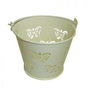 Ivory Miniature Butterfly Bucket