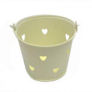 Ivory Miniature Heart Bucket