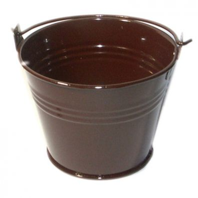Chocolate Brown Miniature Bucket