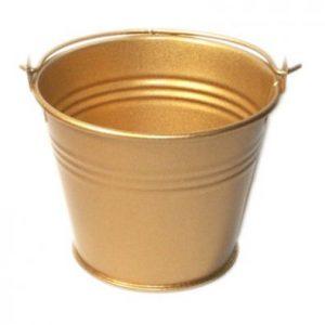 Gold Miniature Bucket