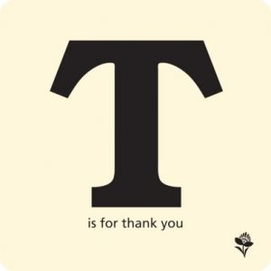 T is for Thank You Cards