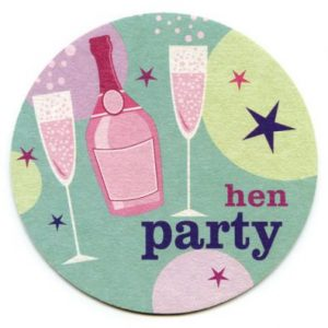 Champagne Hen Party Invites