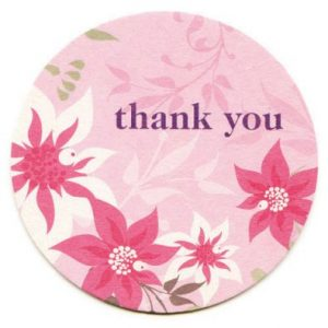 Exotic Flower Thank You Cards