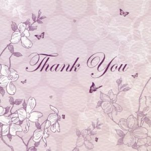 Enchanted Days Lilac Thank You Cards