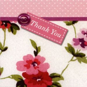 Vintage Floral Pink Thank You Cards